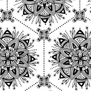 Wanderling - Boho Mandala Geometric Coloring Book Style