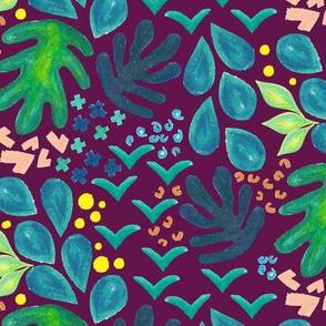Violet Botanical Scatter