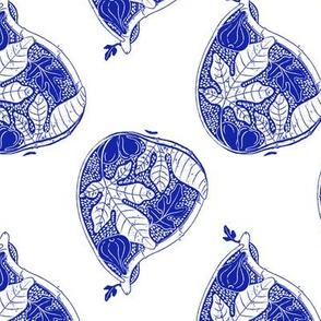 Fresh Fruit Fig in Cobalt