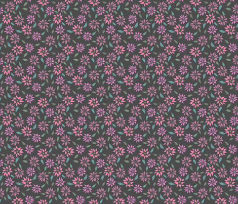 Poinsettias - Charcoal - Small Scale fabric by byre_wilde on Spoonflower - custom fabric