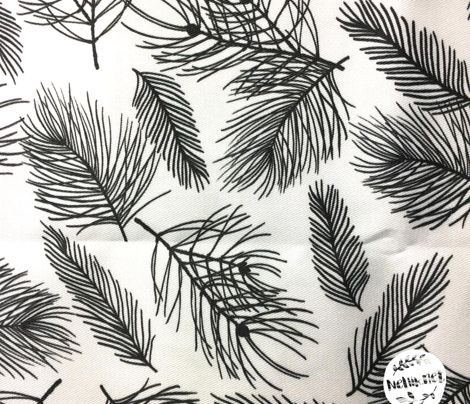 Pine Pattern Black and White