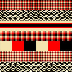 Year of the Dog Patterned  Stripes 2