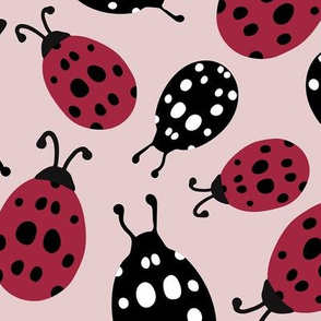 Ladybugs in Red and Black