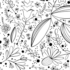 Chloe Floral Coloring Book Style