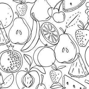 Fruitopia Coloring Book Style