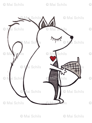 Large squirrel pillow plushy