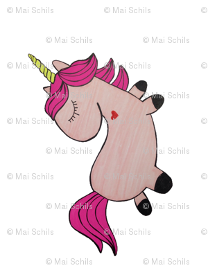 Large pillow -unicorn plush