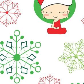 Minimal Zen Santa Pattern