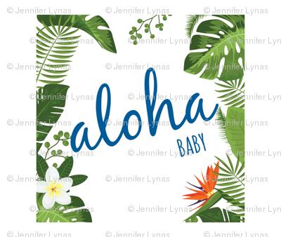 Aloha baby blue lovey