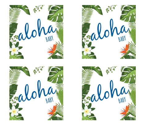 Aloha baby blue lovey fabric by shesalioness on Spoonflower - custom fabric