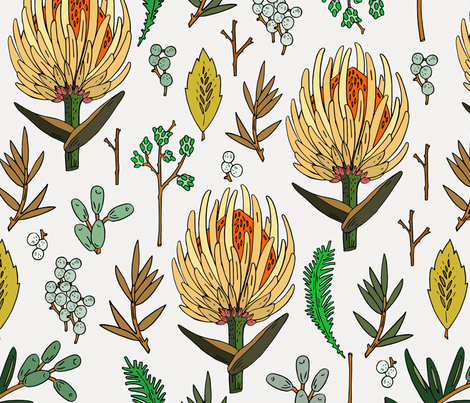 floral_study_light_large fabric by holli_zollinger on Spoonflower - custom fabric
