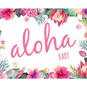 Tropical aloha baby pink wide