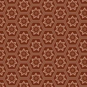Woodcut Hexes - Maroon