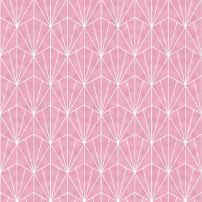 Mermaid Tile - White and Pink