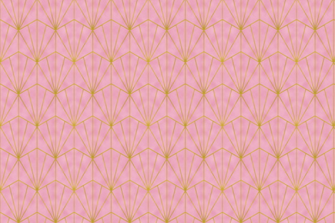 Mermaid Tile - Gold Foil and Pink fabric by maryashlynthomas on Spoonflower - custom fabric