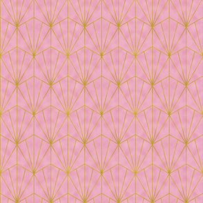 Mermaid Tile - Gold Foil and Pink