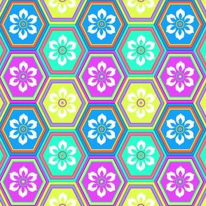 Flower Hexes - Bright - Medium