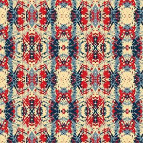 Painted Fibers Tribal, Americana, Medium
