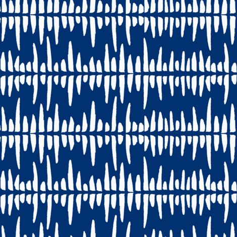indigo soundwaves  fabric by lilalunis on Spoonflower - custom fabric