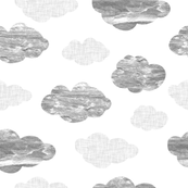 Gray textured clouds