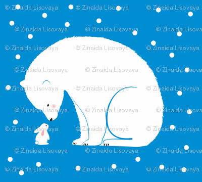 White bear and bunny