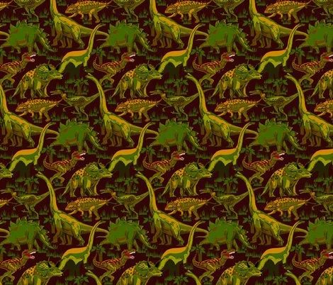 Rdinosaurs-browns-and-greens-on-dark-burgandy_shop_preview