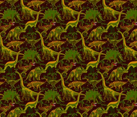 Camo Dinosaurs  on Dark Burgundy Brown fabric by house_of_heasman on Spoonflower - custom fabric