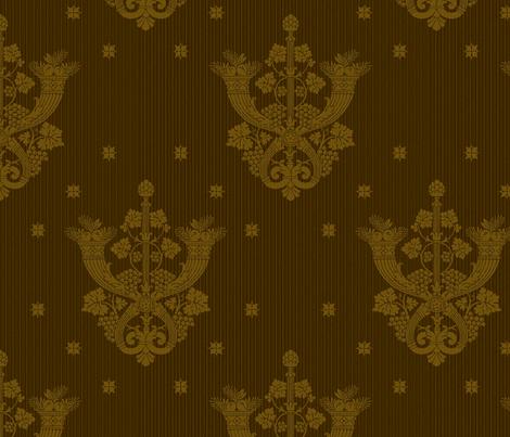 Castle Howard Damask 1c fabric by muhlenkott on Spoonflower - custom fabric