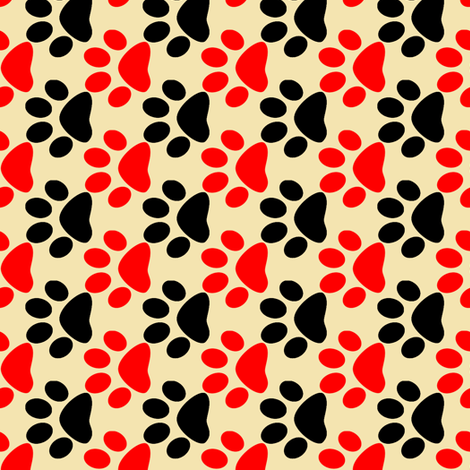 Dog Paws 4 fabric by anniedeb on Spoonflower - custom fabric