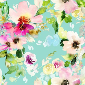 Summer Mint Florals