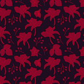 Red flowers on a dark surface