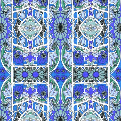 Gothic Gardening fabric by edsel2084 on Spoonflower - custom fabric
