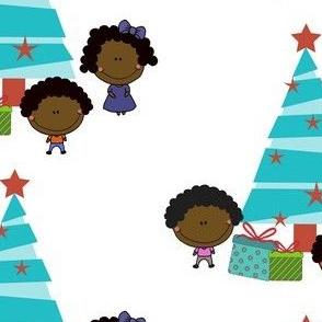 Kids and Tree: Christmas
