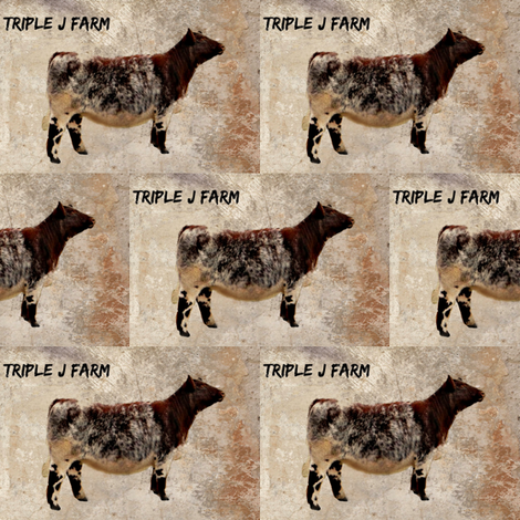 CoxCreations - TripleJFarm Shorthorns fabric by jesscoxstephens on Spoonflower - custom fabric