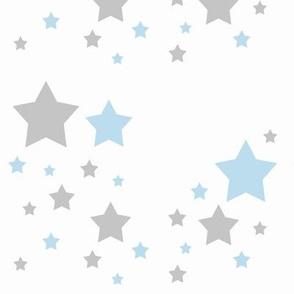 Celestial Blue Grey Gray Stars