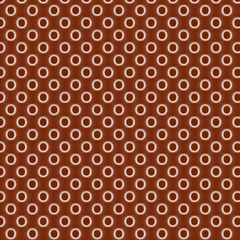 Brown halo rings - B fabric by the_cornish_crone on Spoonflower - custom fabric