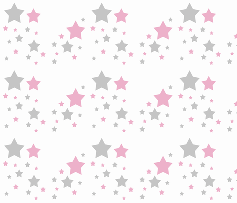 pink star wallpaper  Celestial Pink Grey Gray Stars wallpaper - decamp_studios - Spoonflower