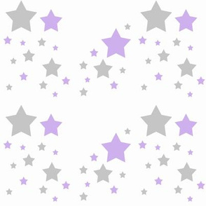 Celestial Lavender Purple Grey Gray Stars
