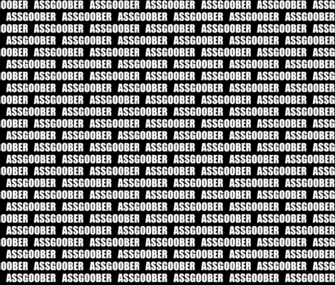 "assgoober 1/2"" fabric by la_bricoleuse on Spoonflower - custom fabric"