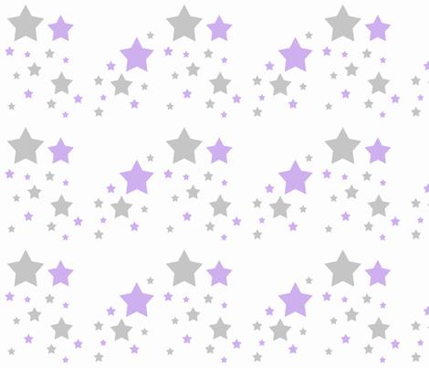 Celestial Lavender Purple Grey Gray Stars    fabric by decamp_studios on Spoonflower - custom fabric
