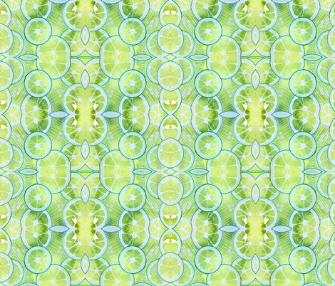 Lime Ring Kaleidoscope fabric by wingswormsandwonder on Spoonflower - custom fabric