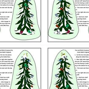 Winter Tree and Bird Cut and Sew Ornament