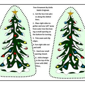 Winter  Christmas Tree Cut and Sew Ornament