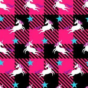 Pink Unicorn Plaid