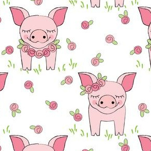 pig-with-roses