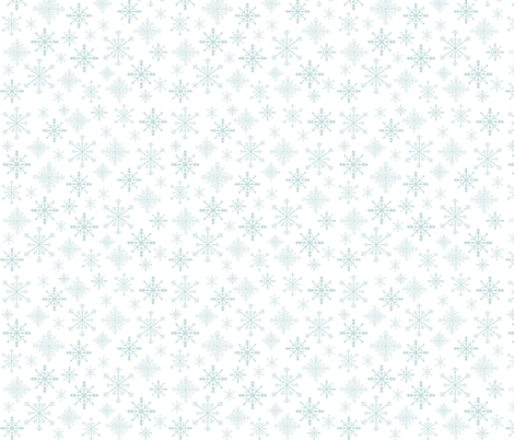 Snowflakes fabric by sallythompson on Spoonflower - custom fabric