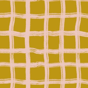 Blush gold plaid