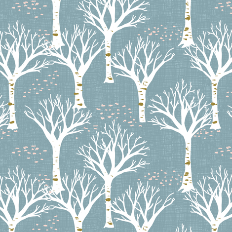 Winter woods fabric by mrshervi on Spoonflower - custom fabric