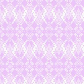 Ombre Diamonds in Lavender and White Smoke