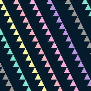 Navy & Pastel Triangles